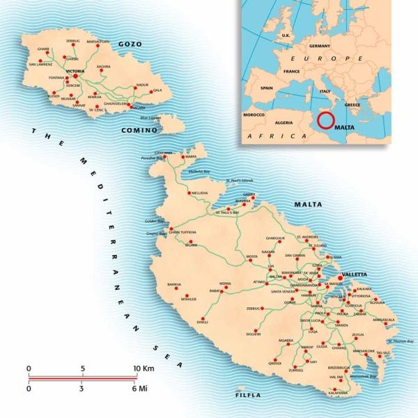 Malta-Mapa