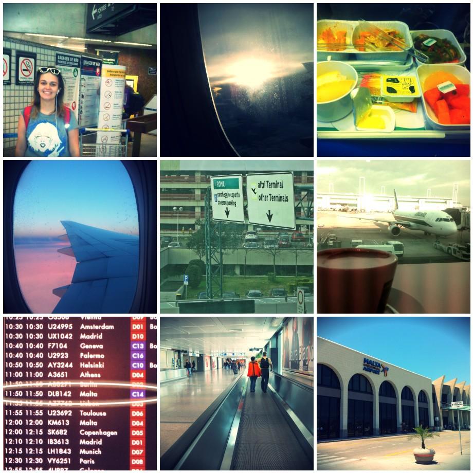 indo pra Malta, aeroporto Guarulhos, Roma e Luga