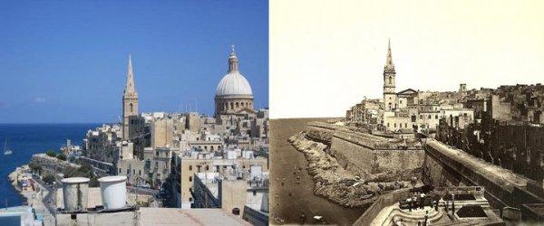 Valletta passado e presente. Malta Once upon a time.