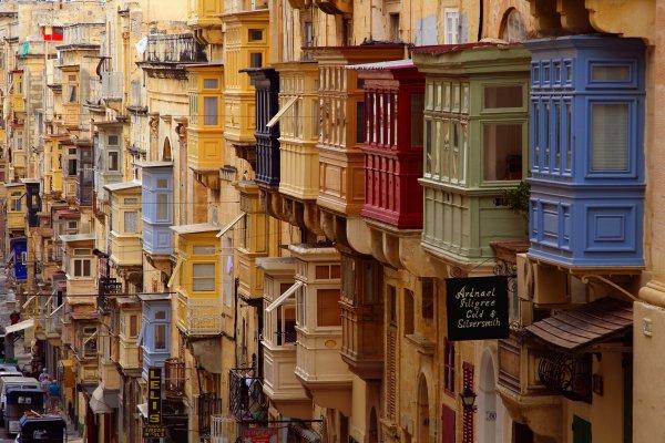 Malta balcony Valletta