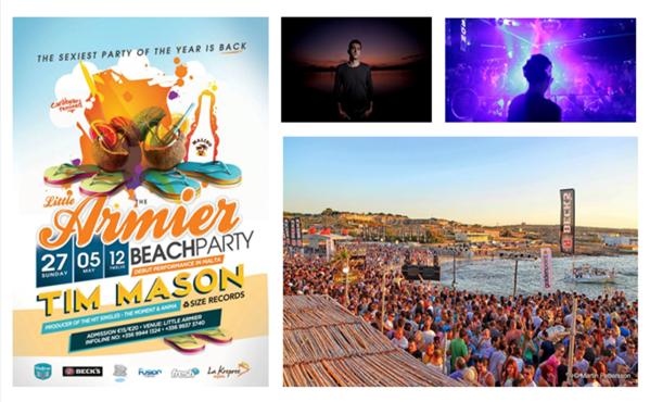 The Armier Beach Party Malta com Tim Mason