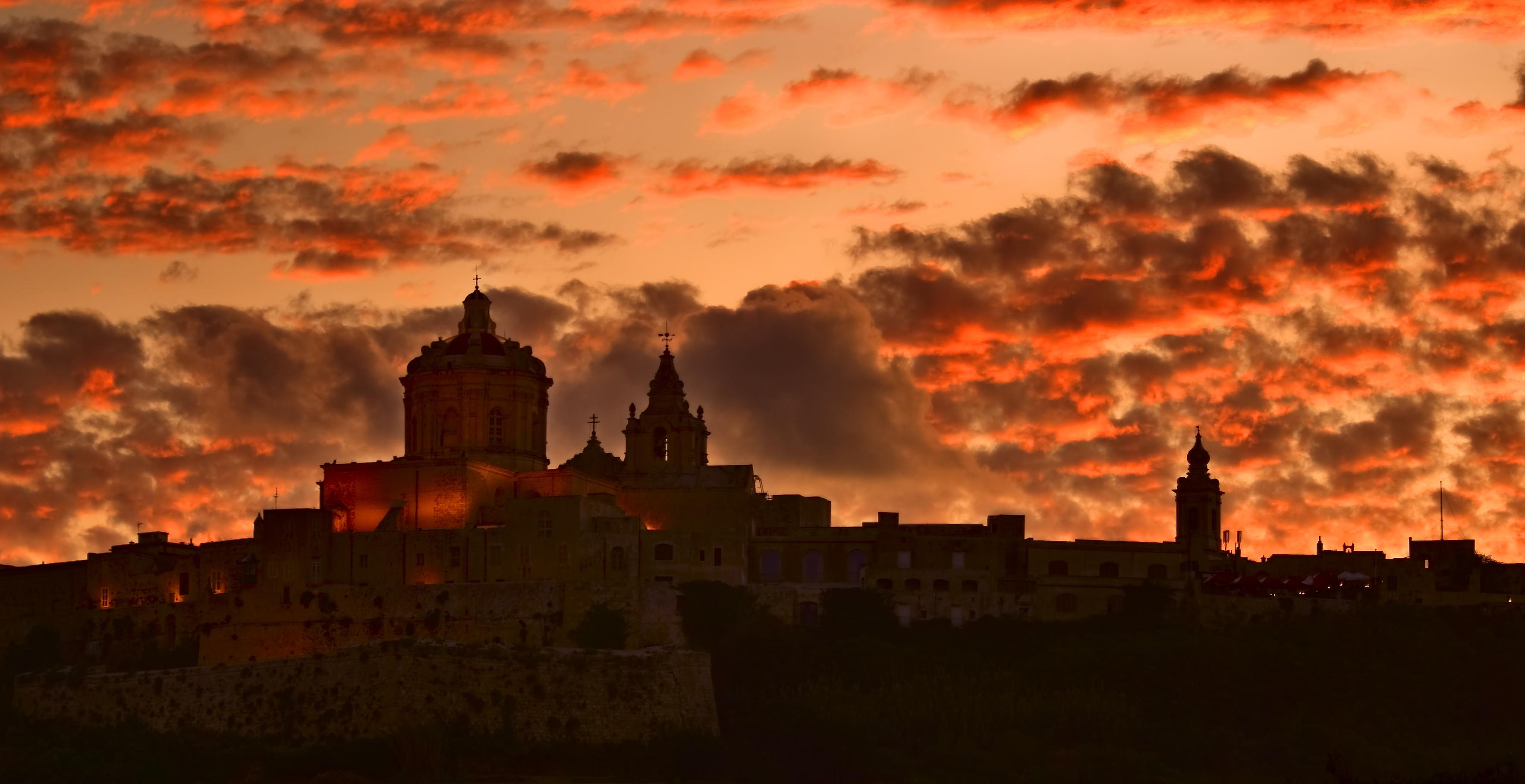 Mdina sunset Malta