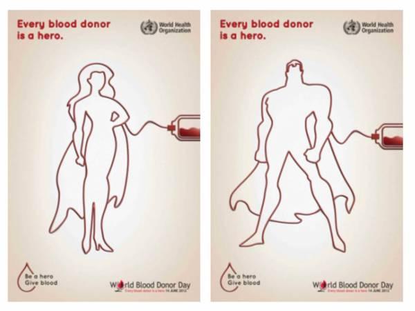 campanha hero Dia Mundial do Doador de Sangue