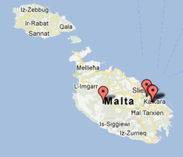 mapa museus Malta