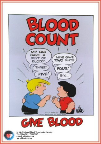poster blood count Malta