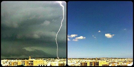 num dia chuva, no outro sol em Malta