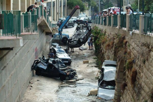 estragos da enchente em malta