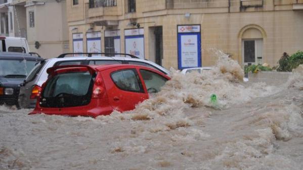 enchente Malta